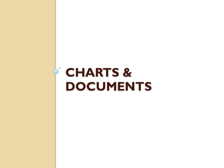 Charts and Documents
